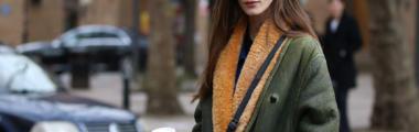 Modny płaszcz zimowy