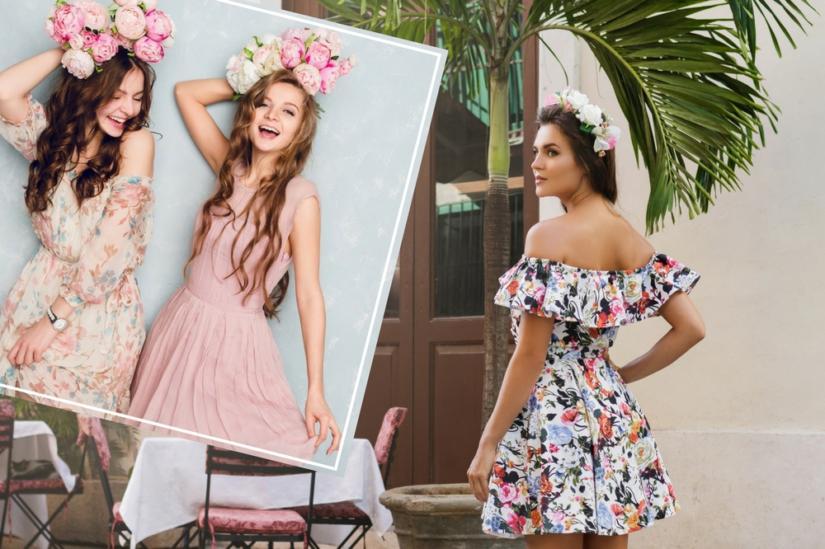 Zwiewne sukienki w pastelowych kolorach są niezwykle dziewczęce