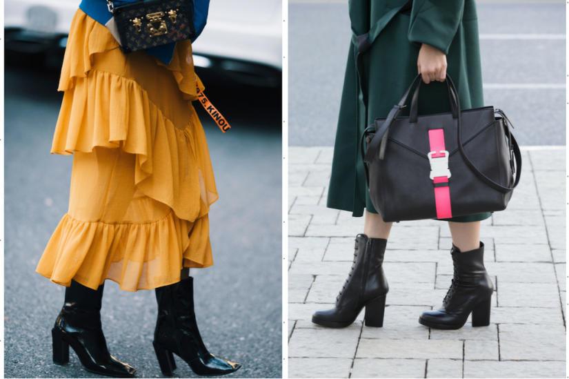 Eleganckie czarne botki damskie na słupku będą uniwersalnym wyborem