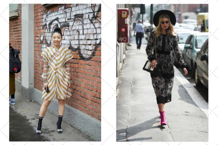 Botki damskie na słupku z cholewką w stylu skarpety są bardzo modne, ale to trend nie dla wszystkich