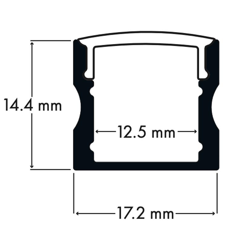 100% Light Uk Deep Surface Led Profile Line Drawing