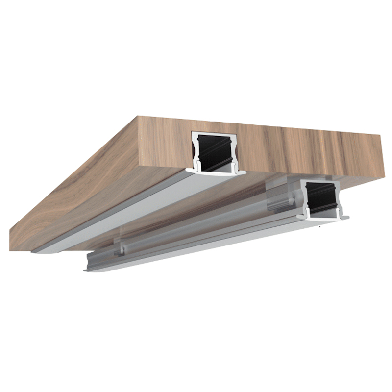 100% Light Uk Deep Recessed Led Profile Aluminium B