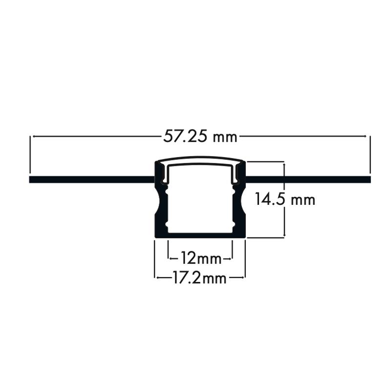 100% Light Uk Deep Plaster In Led Profile Line Drawing