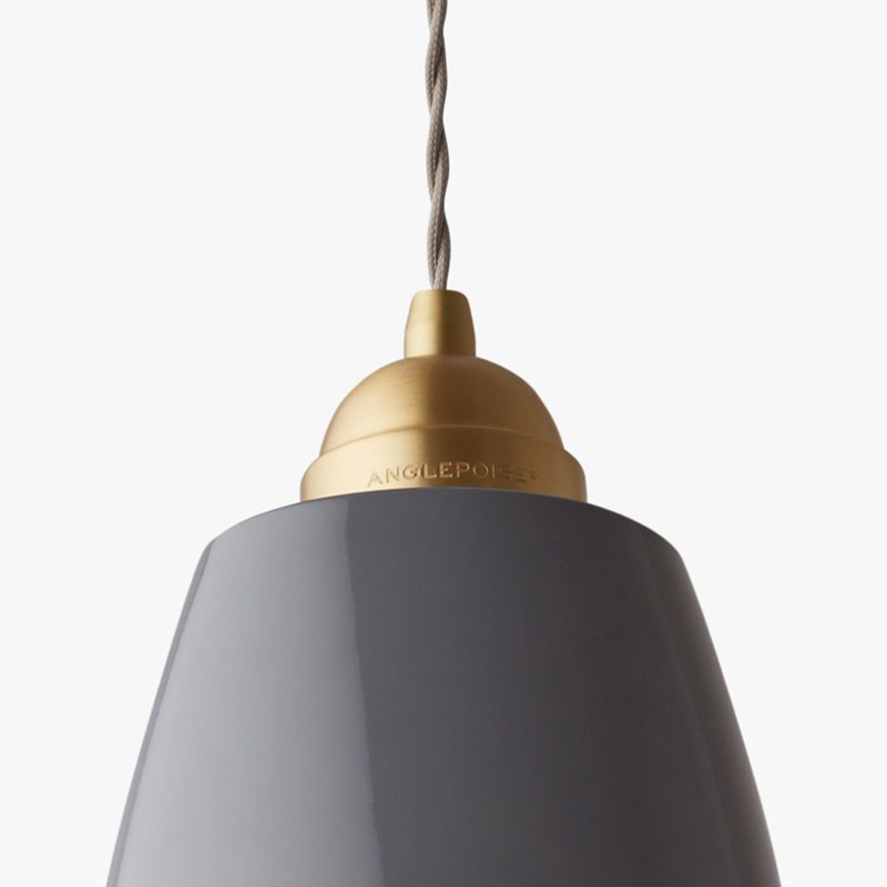 Anglepoise Original 1227 Brass Maxi S Pendant Light Elephant Grey B