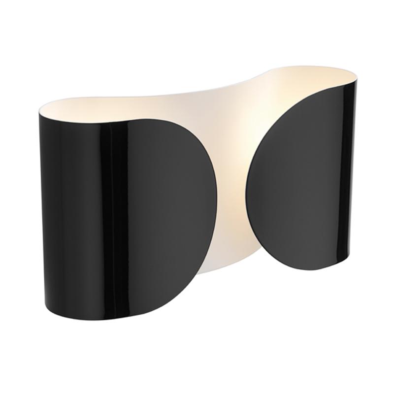 Flos Foglio Wall Light Black