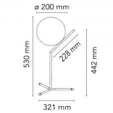 Flos Ic T1 High Table Light Line Drawing