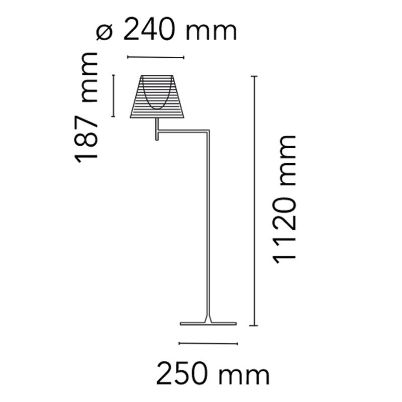 Flos Ktribe F1 Floor Lamp Line Drawing