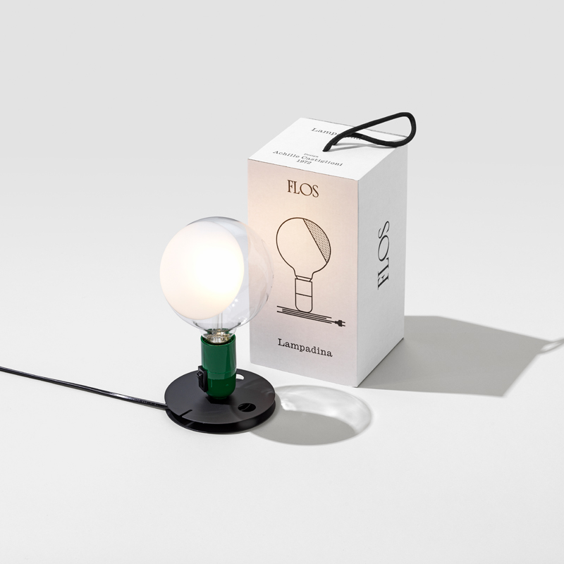 Flos Lampadina Table Lamp Green B