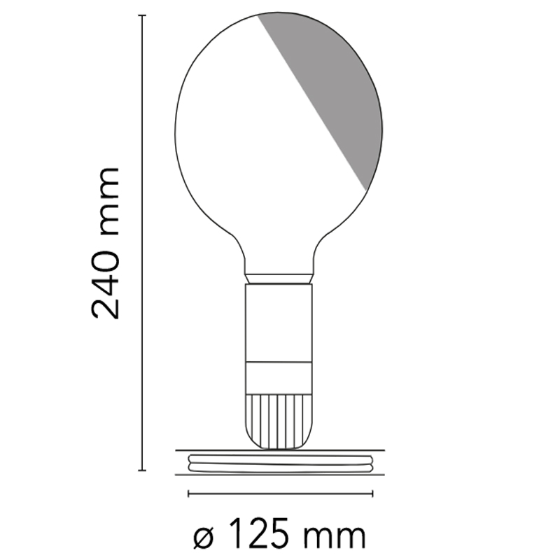Flos Lampadina Table Lamp Line Drawing