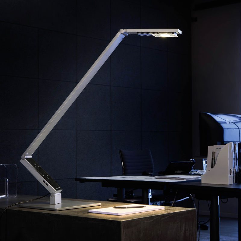 Luctra Linear Pro Base Table Lamp Aluminium D