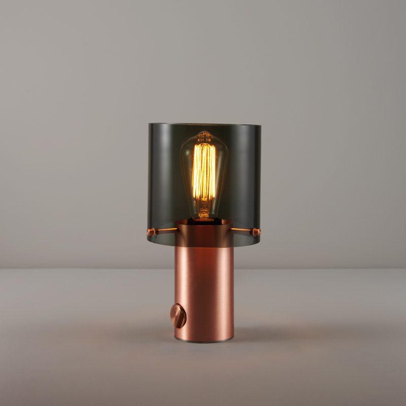 Original Btc Walter 1 Table Lamp Copper Anthracite
