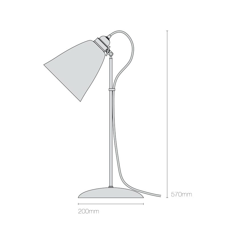 Original Btc Hector Large Dome Table Lamp Line Drawing