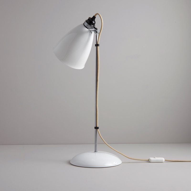 Original Btc Hector Large Dome Table Lamp Natrual White D