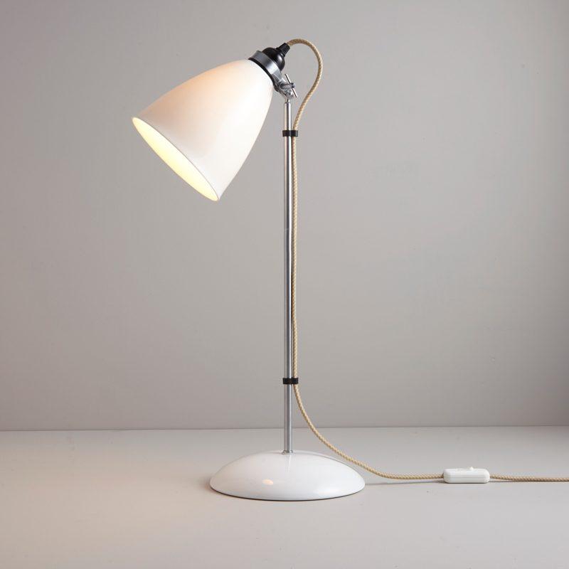 Original Btc Hector Large Dome Table Lamp Natrual White