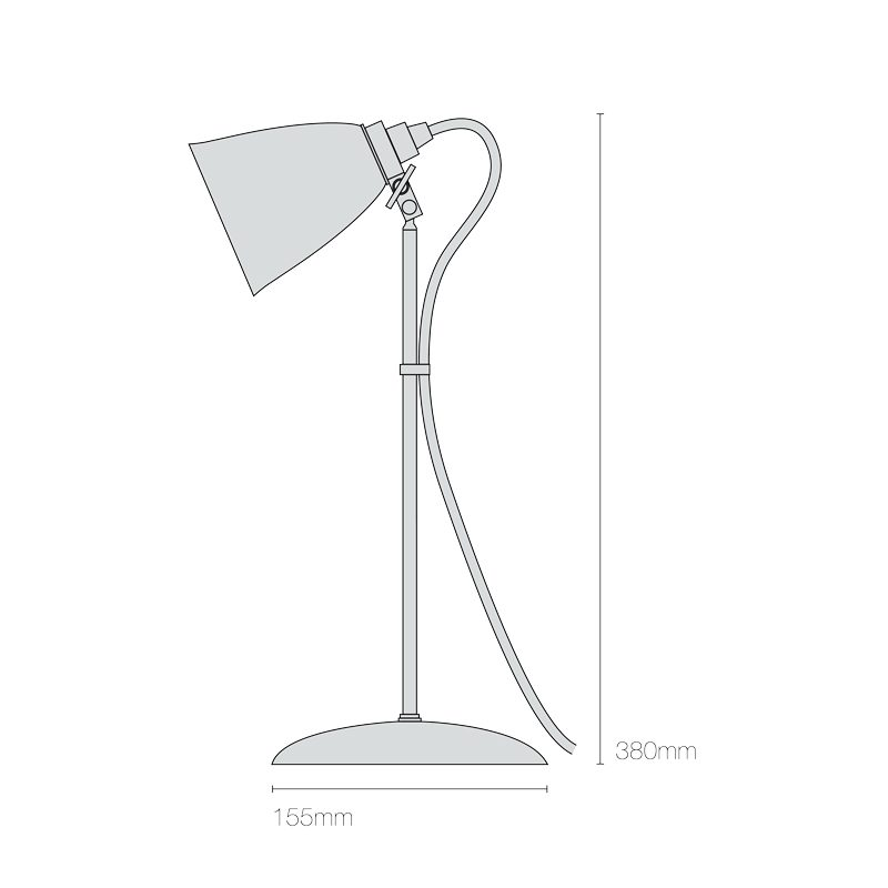Original Btc Hector Small Dome Table Lamp Line Drawing