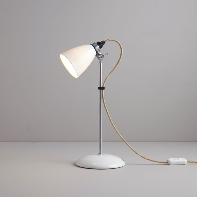 Original Btc Hector Small Dome Table Lamp Natural White