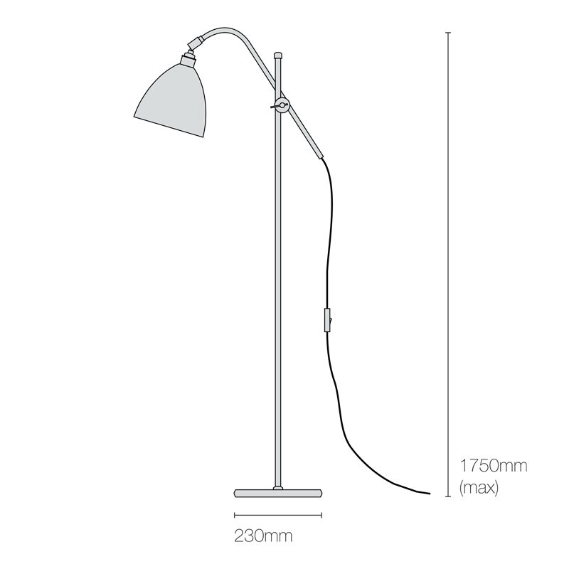 Original Btc Task Floor Lamp Line Drawing