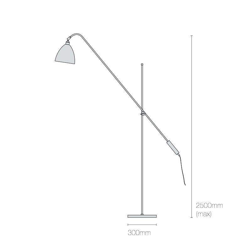 Original Btc Task Overreach Floor Lamp Line Drawing