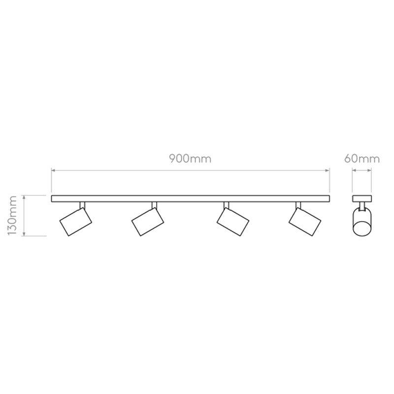 Astro Ascoli Four Bar Spotlight Line Drawing