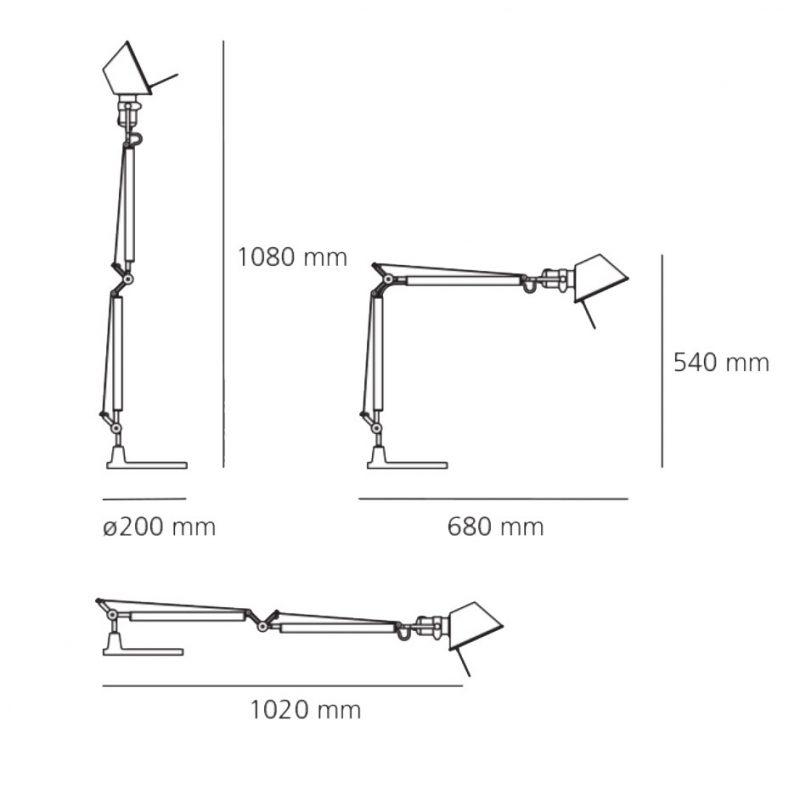 Artemide Tolomeo Mini Table Lamp Line Drawing