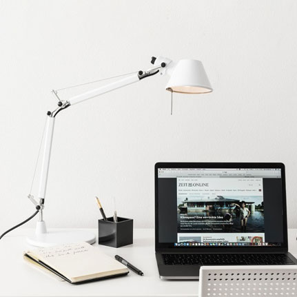 Artemide Tolomeo Micro Table Light Glossy White A