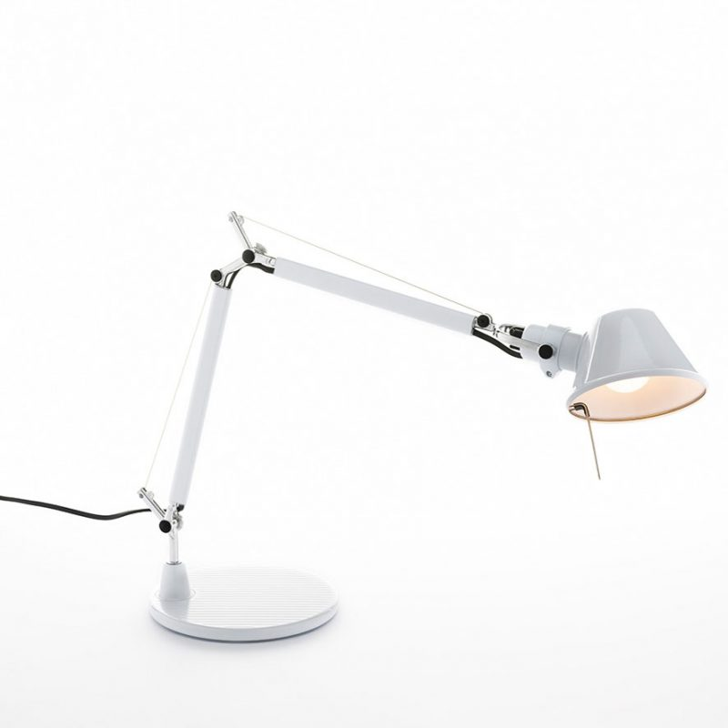 Artemide Tolomeo Micro Table Light Glossy White