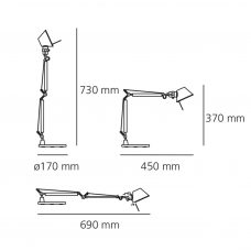 Artemide Tolomeo Micro Table Light Line Drawing