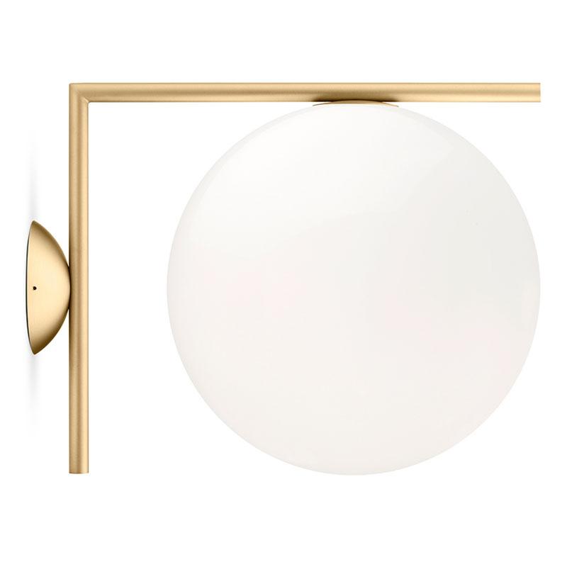 Flos Ic Light Cw2 Wall Light Brass
