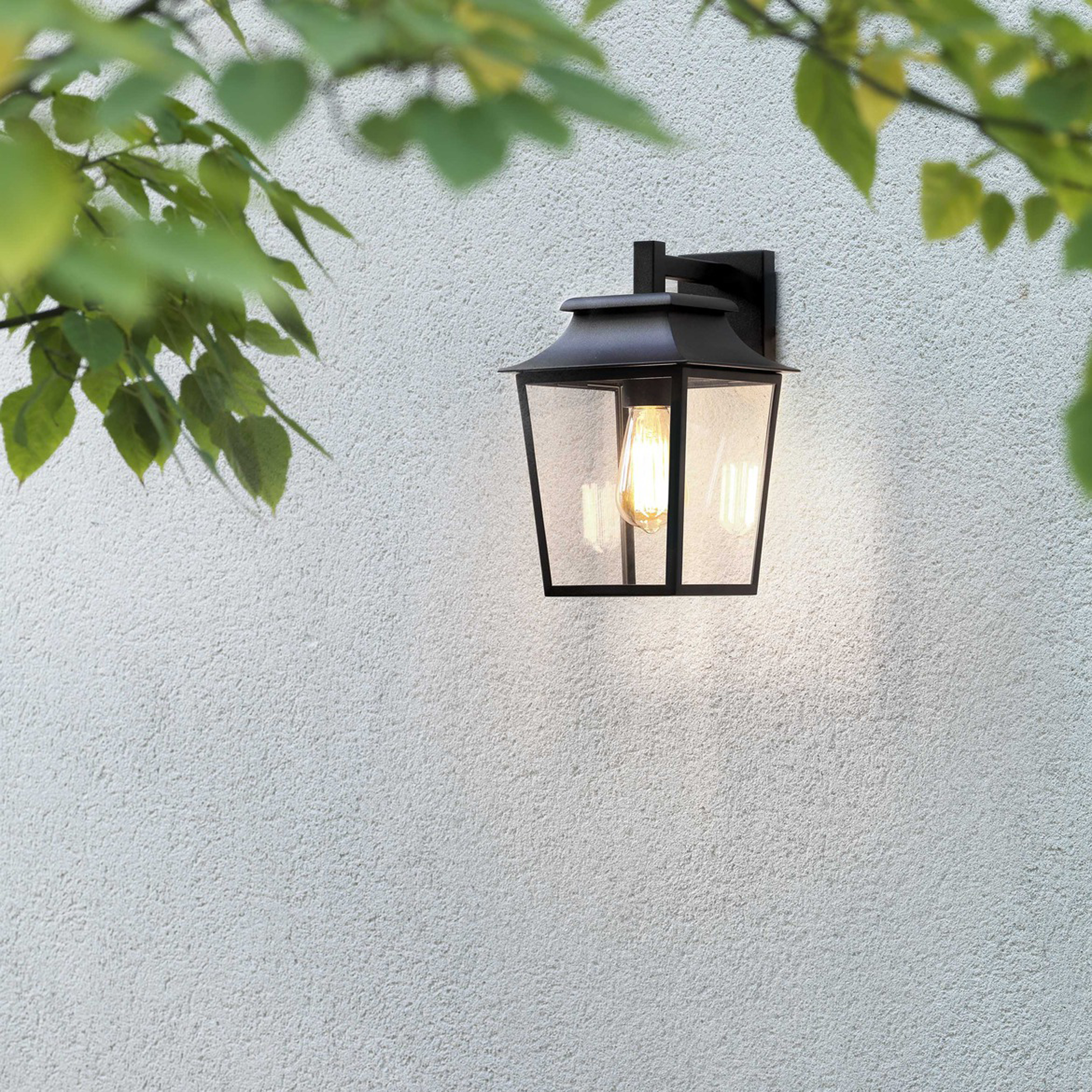 Astro Richmond Lantern 200 Wall Light Black B
