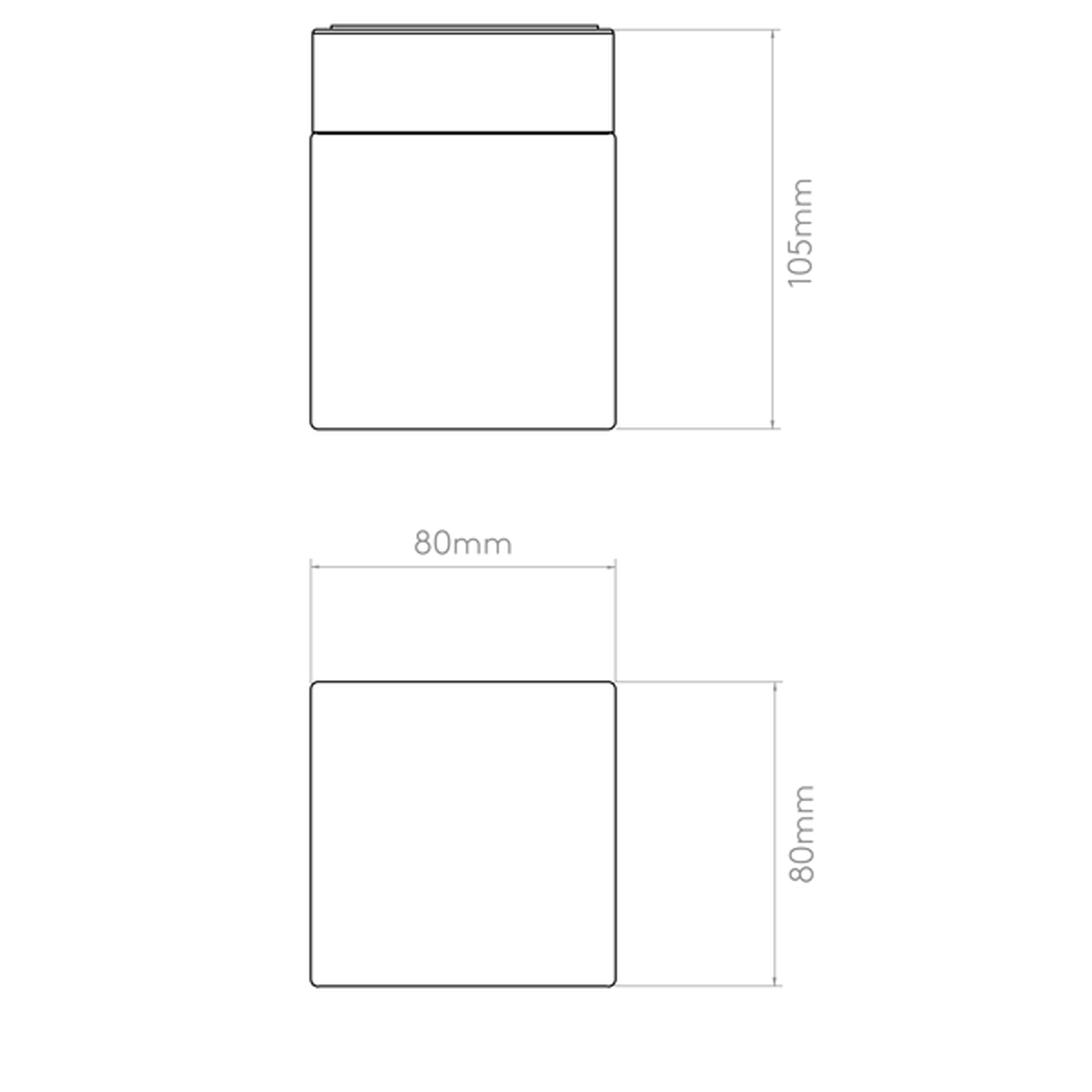 Astro Cube Wall Light Line Drawing