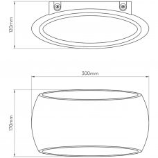 Astro Aria 300 Wall Light Line Drawing