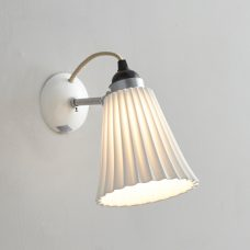Original Btc Hector Medium Pleat Wall Light Natural White On