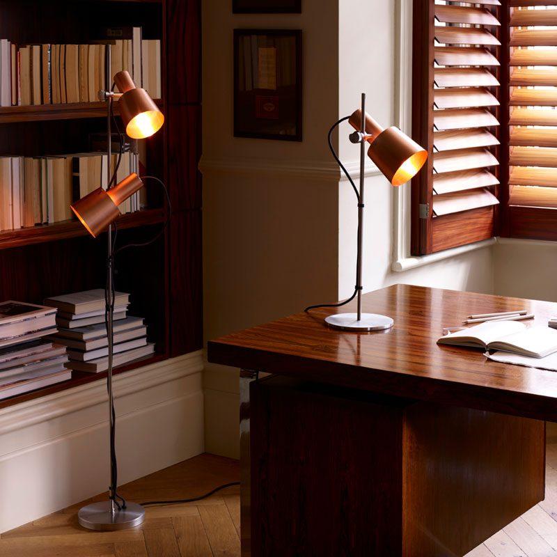 Original Btc Chester Table Lamp Satin Copper C