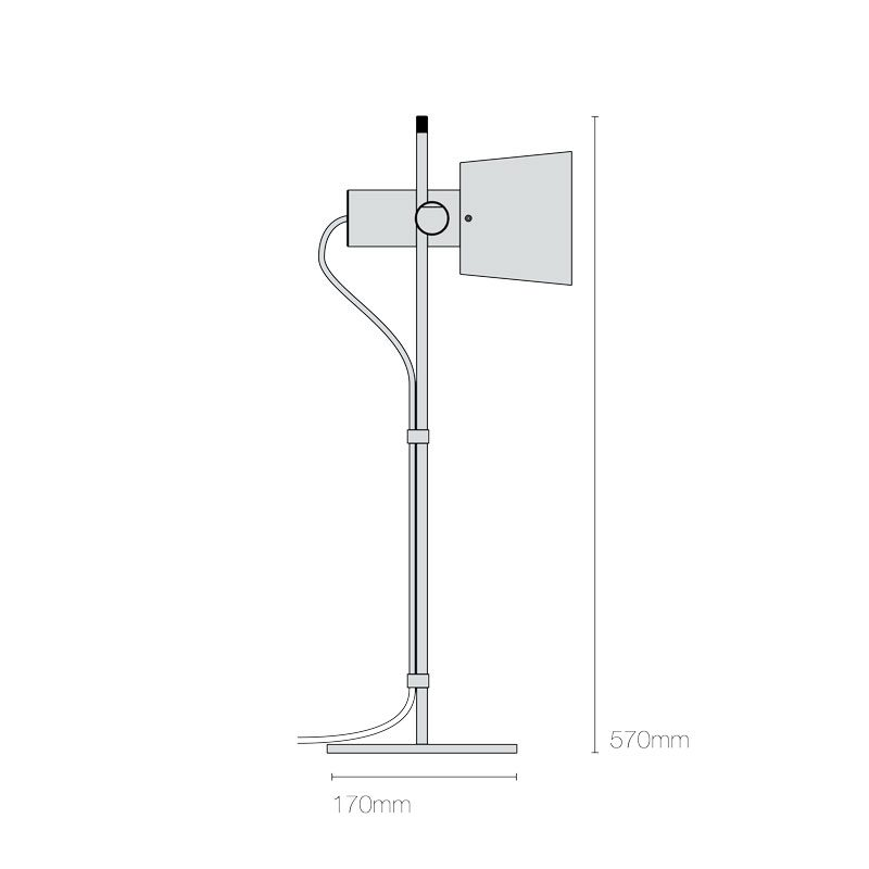Riginal Btc Chester Table Lamp Line Drawing
