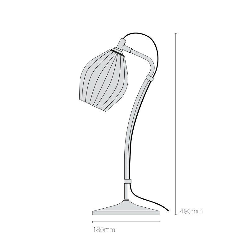 Original Btc Fin Table Lamp Line Drawing