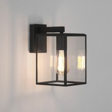 Astro Box Lantern 270 Wall Light Black