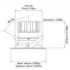 Orluna Detail Adjustable Downlight Line Drawing