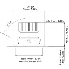 Orluna True Adjustable Downlight Line Drawing