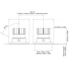 Orluna True Twin Downlight Line Drawing