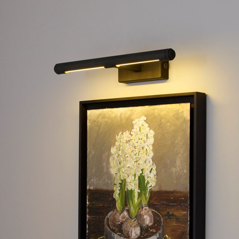 Davey Lighting Cooper Small Picture Light Weathered Brass B On