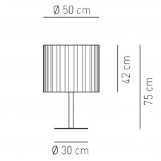 Axolight Skirt Table Lamp Line Drawing