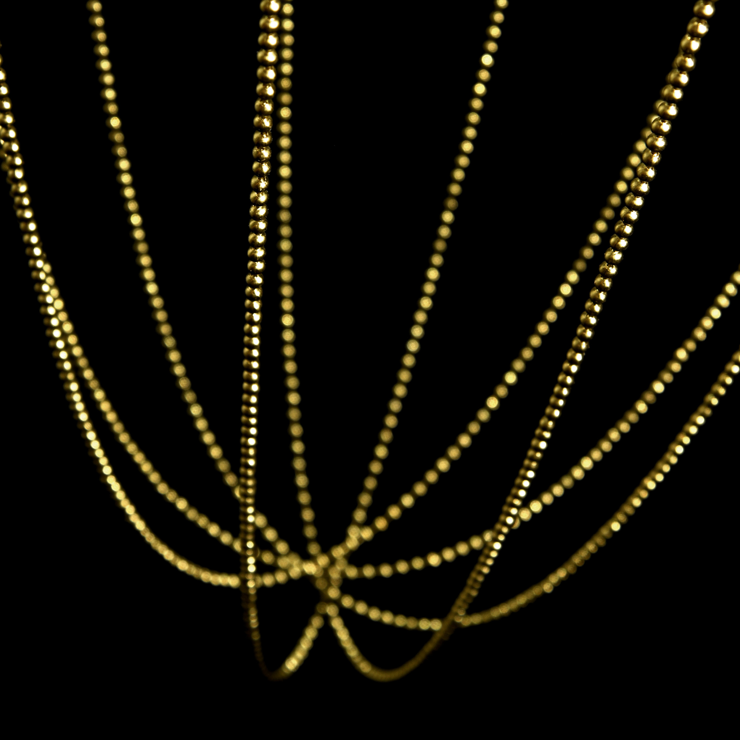 Axolight Alysoid 43 Pendant Light Natural Brass D
