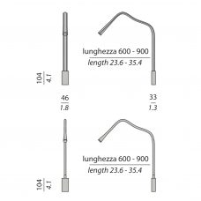 Contardi Flexiled Ap Wall Light Line Drawing