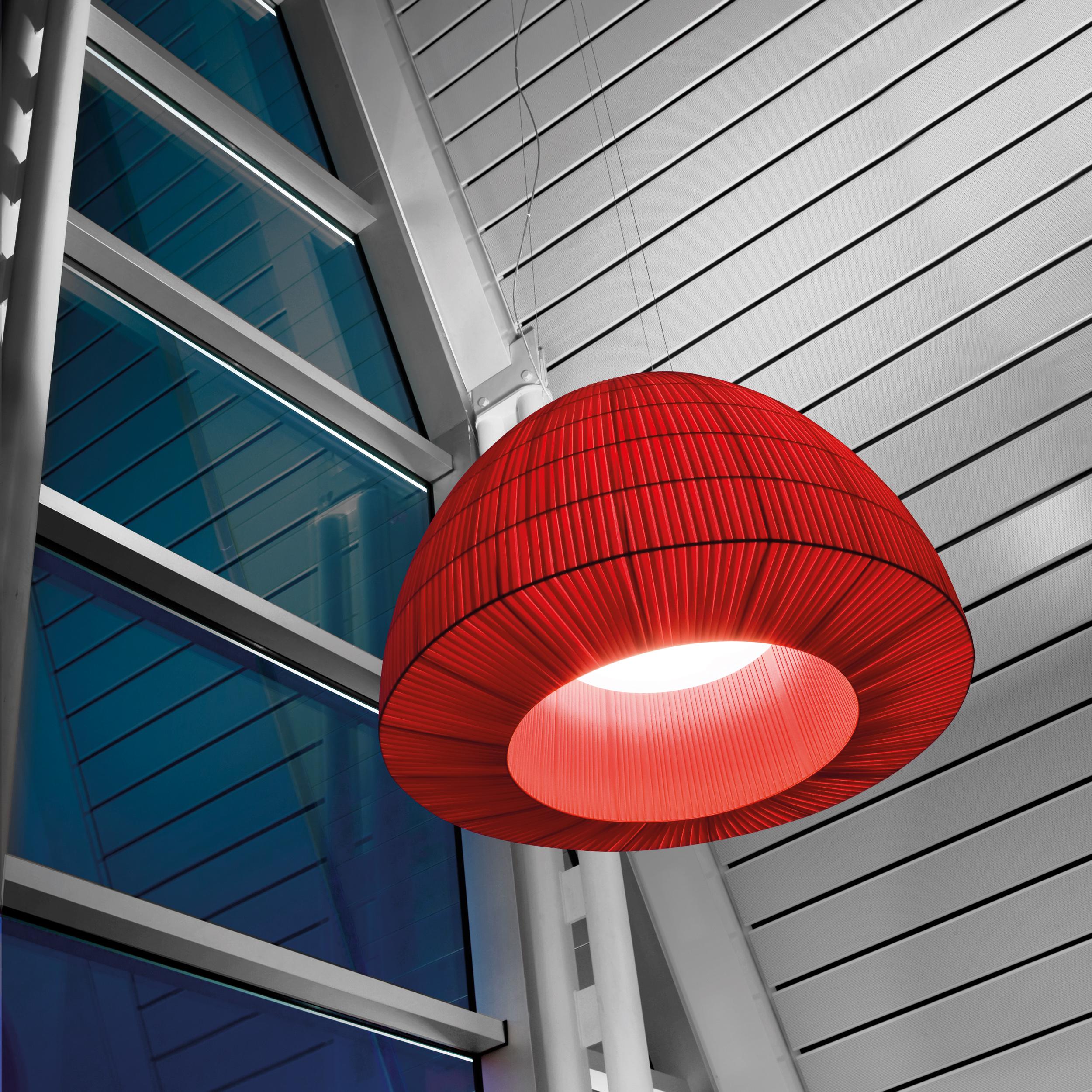Axolight Bell 180 Pendant Light Red B