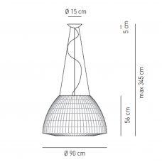Axolight Bell 90 Led Pendant Light Line Drawing