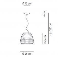 Axolight Bell 45 Pendant Light Line Drawing