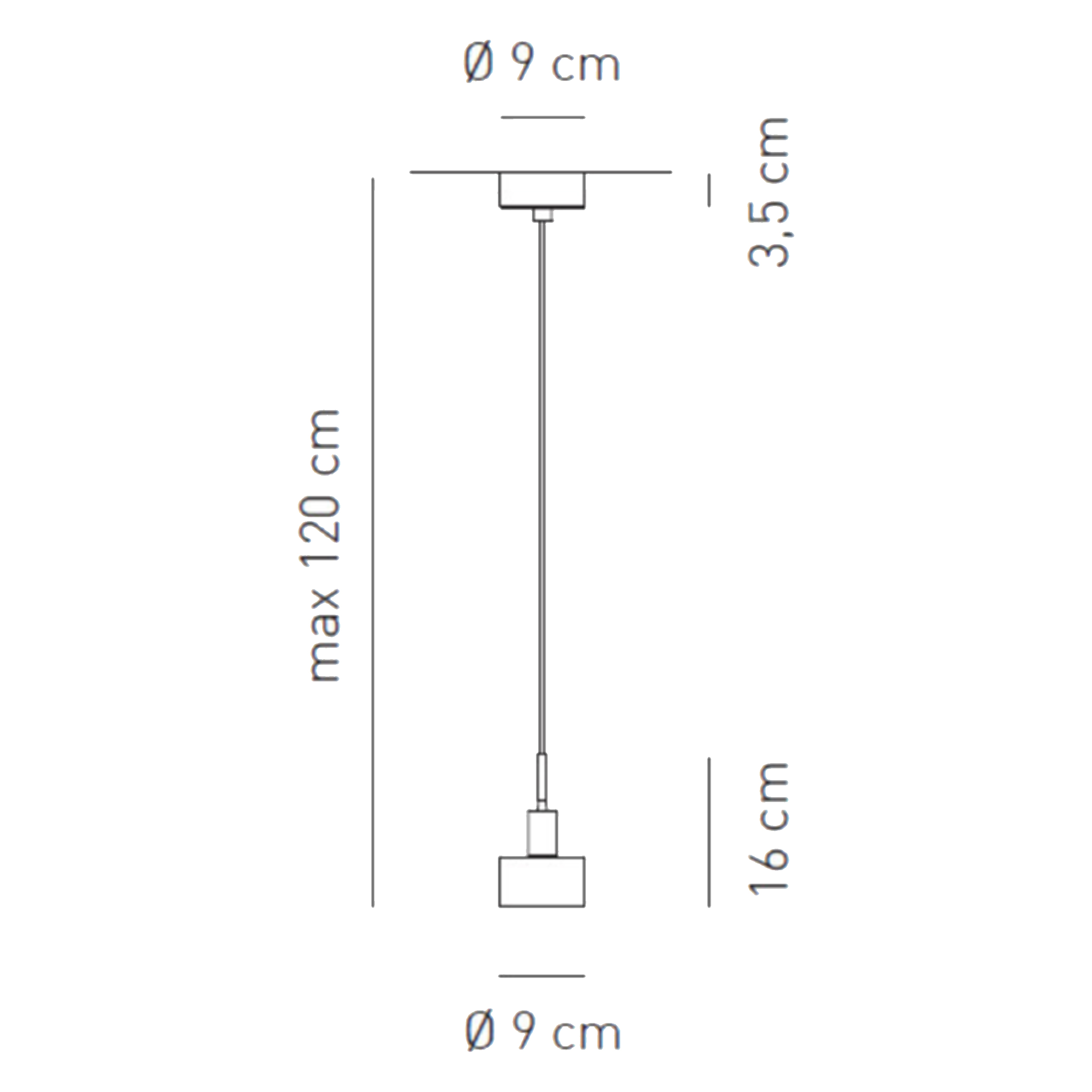 Axolight Ax20 Pendant Light Line Drawing