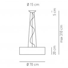 Axolight Skin 70 Pendant Light Line Drawing