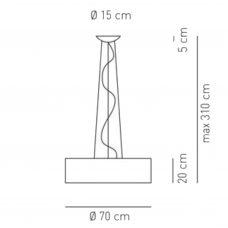 Axolight Skin 70 Pendant Light Line Drawing