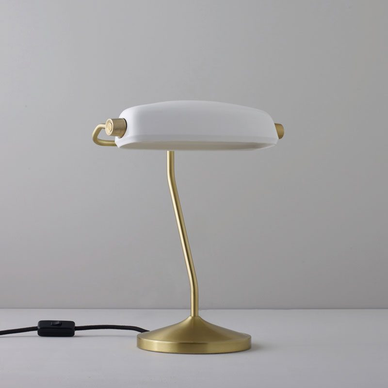 Original Btc Bankers Table Lamp Satin Brass B